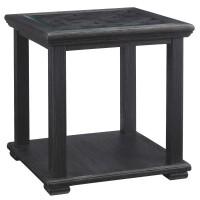 Tyler Creek - Black - Square End Table