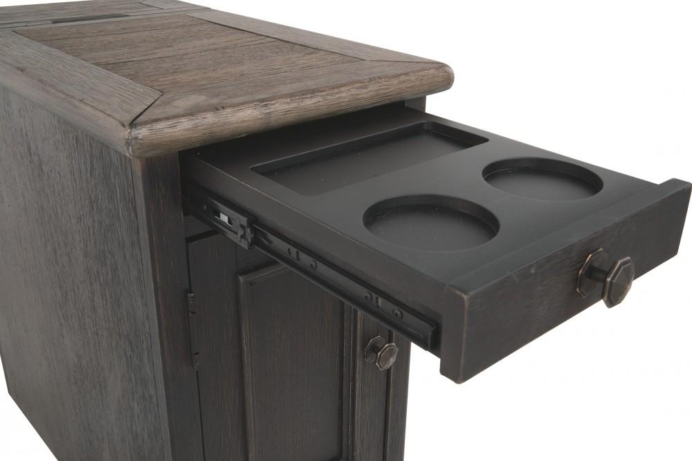 Tyler Creek Grayish Brown Black Chair Side End Table