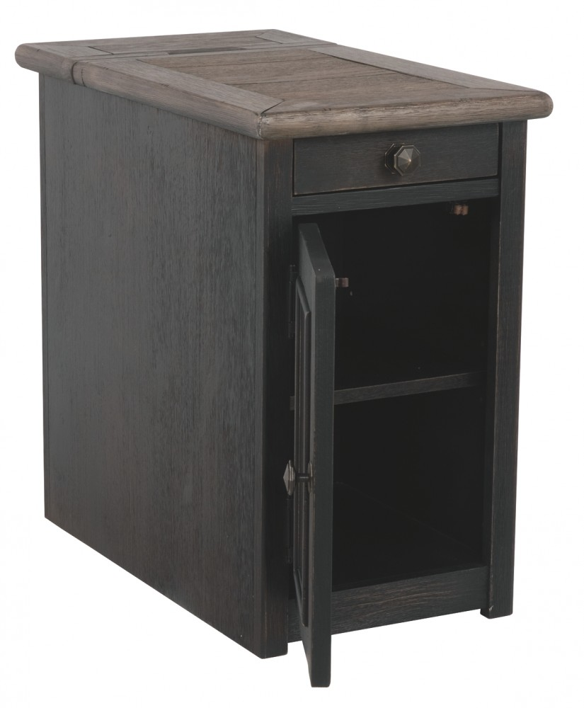 Tyler Creek Grayish Brown Black Chair Side End Table