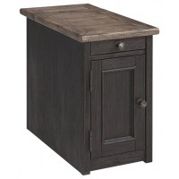 Tyler Creek - Grayish Brown/Black - Chair Side End Table
