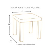 Ossereene - Brown - Square End Table