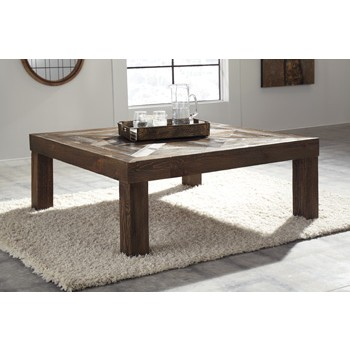 Ossereene - Brown - Square Cocktail Table