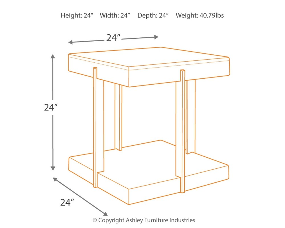 Gantoni Two Tone Square End Table End Tables Pruitt 39 S Fine Furniture