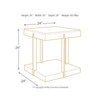Gantoni - Two-tone - Square End Table