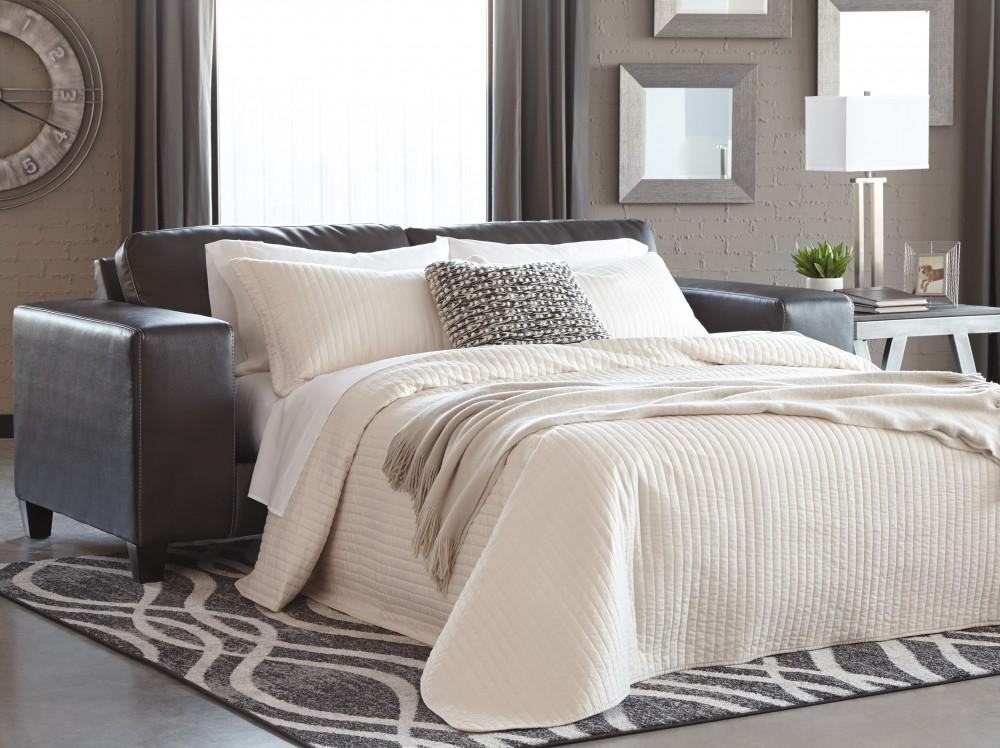 Nokomis charcoal queen sofa sleeper sleeper sofa for Pruitts bedroom sets