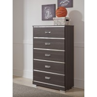 Annikus - Gray - Five Drawer Chest