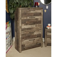 Derekson - Multi Gray - Five Drawer Chest