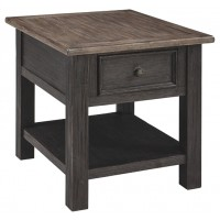 Tyler Creek - Grayish Brown/Black - Rectangular End Table