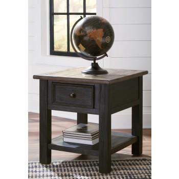 Tyler Creek - Grayish Brown/Black - Rectangular End Table