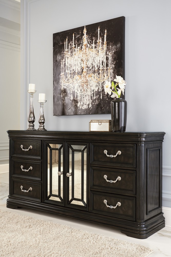 Quinshire - Dark Brown - Dresser