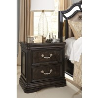 Quinshire - Dark Brown - Two Drawer Night Stand