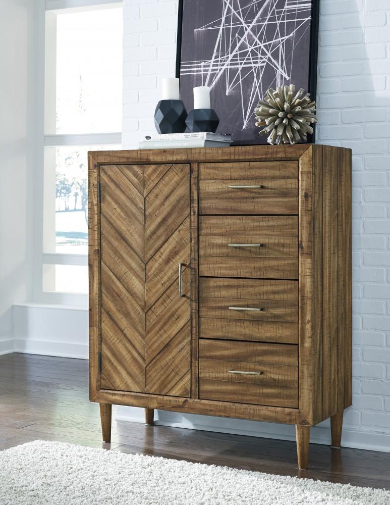 Broshtan - Light Brown - Door Chest & Broshtan - Light Brown - Door Chest | Chests | Texas Discount Furniture