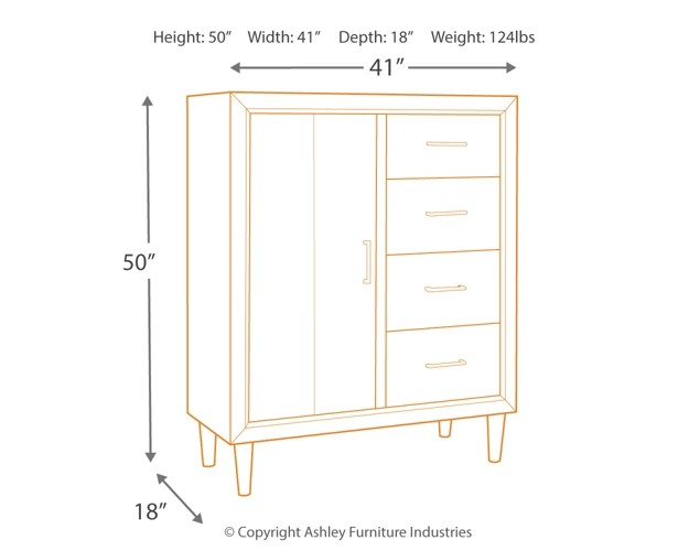 Broshtan - Light Brown - Door Chest