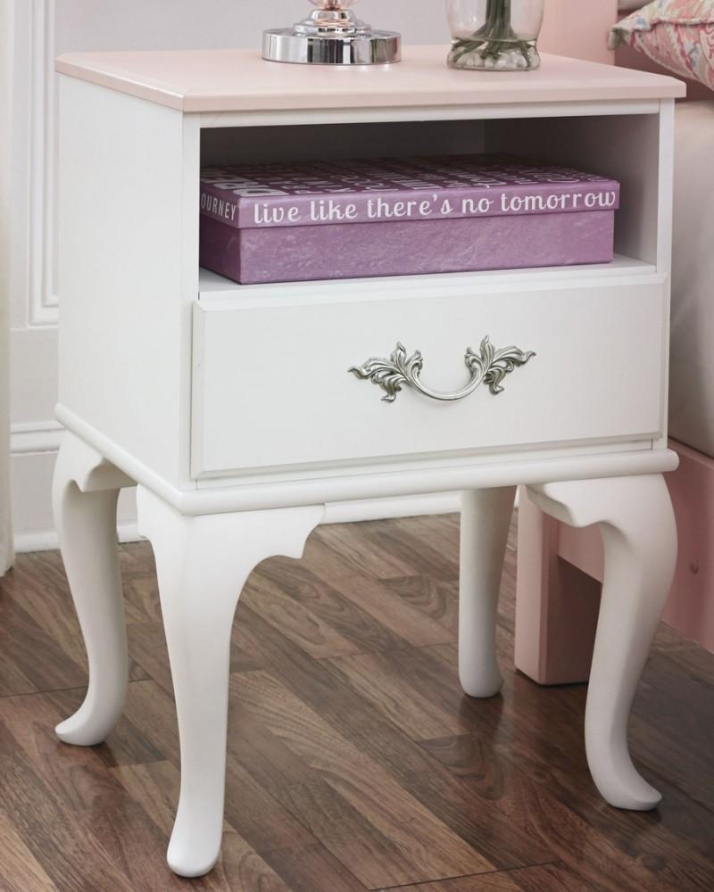 Laddi - White/Pink - One Drawer Night Stand