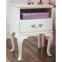 Laddi - White/Pink - One Drawer Night Stand