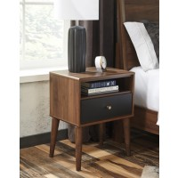 Daneston - Brown/Graphite - One Drawer Night Stand