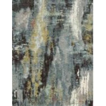 Quent - Blue/Gray/Yellow - Large Rug