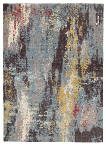 Quent Blue Gray Yellow Medium Rug R403212 Rugs