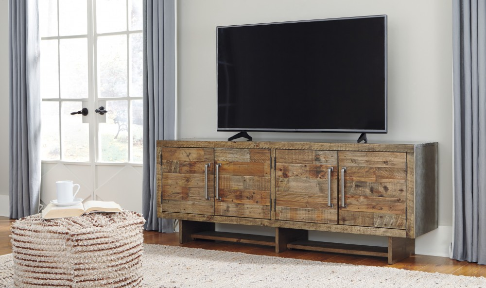 Mozanburg - Rustic Brown - Extra Large TV Stand