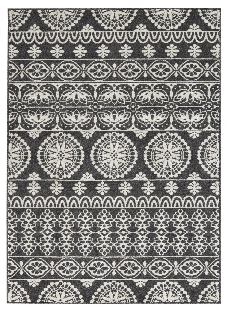 Jicarilla Black White Medium Rug R403142 Rugs