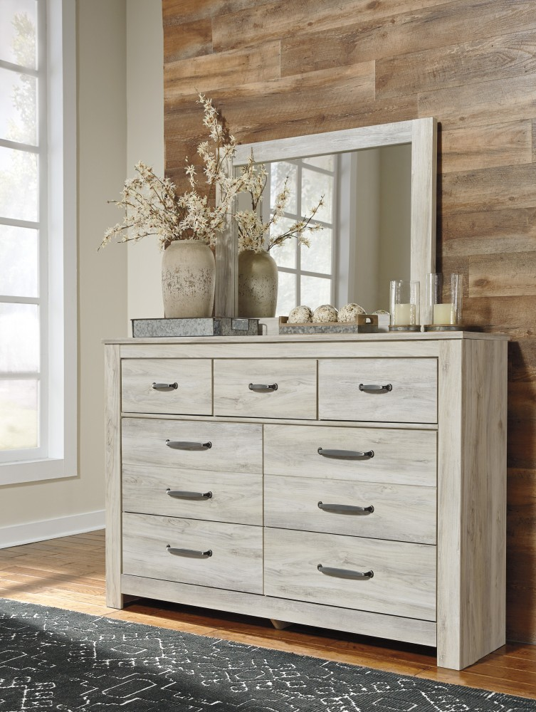 Bellaby whitewash bedroom mirror mirrors pruitt 39 s for Pruitts bedroom sets