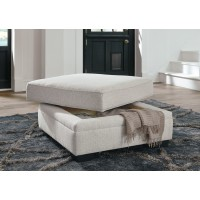 Dellara - Chalk - Ottoman With Storage