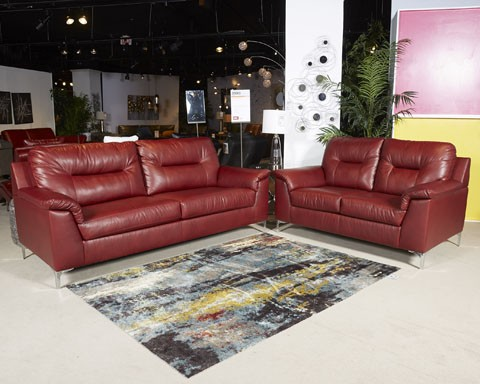 Tensas   Crimson   LAF Sofa