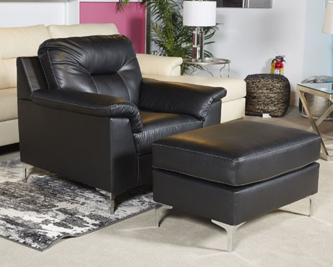 Tensas   Black   LAF Corner Chaise