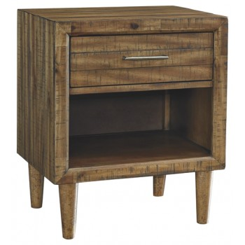 Broshtan - Light Brown - One Drawer Night Stand