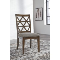 Devasheen - Brown - Dining UPH Side Chair (2/CN)