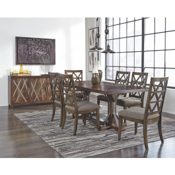 Devasheen - Brown - Rectangular Dining Room Table
