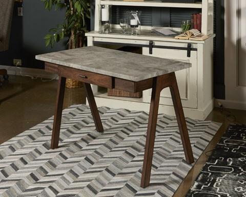 Joshton   Gray/Dark Brown   Home Office Small Leg Desk