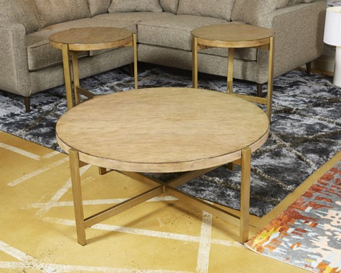 Magnificent Franston Light Brown Round End Table Interior Design Ideas Gentotryabchikinfo