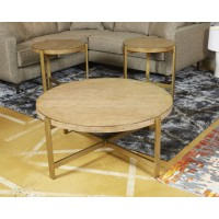 Franston - Light Brown - Round End Table