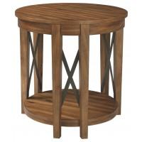 Emilander - Light Brown - Round End Table
