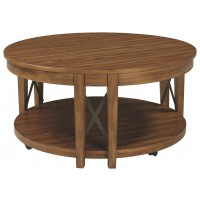 Emilander - Light Brown - Round Cocktail Table
