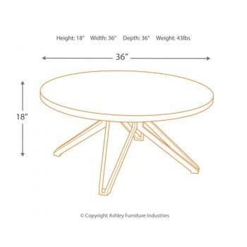 Tavonni - Brown/Black - Round Cocktail Table