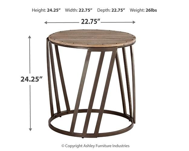 Fathenzen - Two-tone - Round End Table