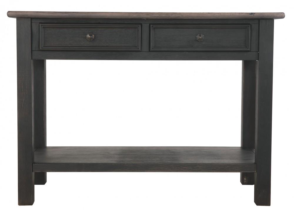 Tyler Creek Grayish Brown Black Sofa Table T736 4