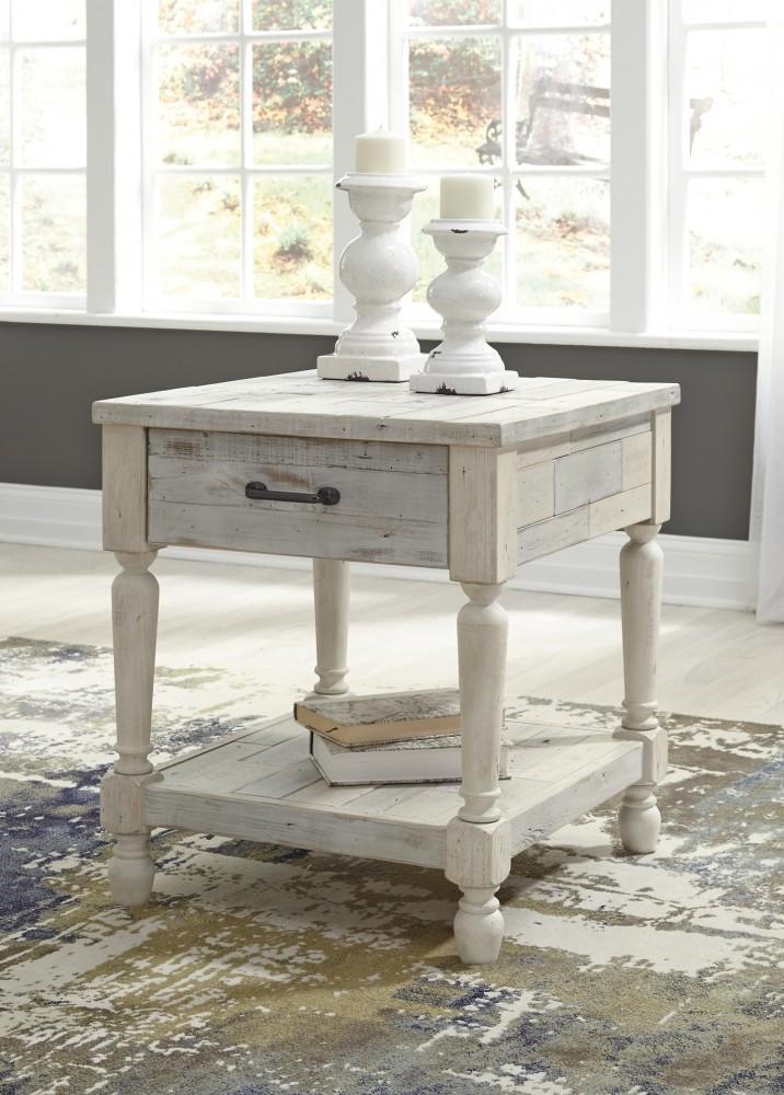 Shawnalore White Wash Rectangular End Table T782 3