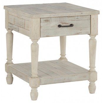 Shawnalore - White Wash - Rectangular End Table