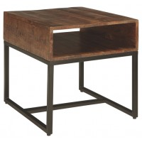 Hirvanton - Warm Brown - Rectangular End Table