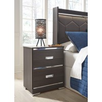 Annikus - Gray - Two Drawer Night Stand