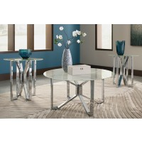 Tangeline - Brushed Nickel Finish - Occasional Table Set (3/CN)