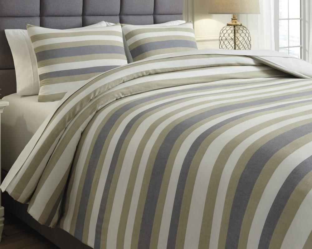 Isaiah - Gray/Tan - King Comforter Set