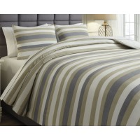 Isaiah - Gray/Tan - King Comforter Set