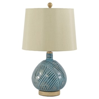 Jenaro - Teal - Glass Table Lamp (1/CN)
