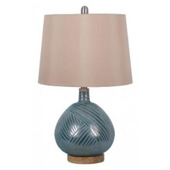 Jenaro Teal Glass Table Lamp 1 Cn L430564 Lamps Vergin Sales