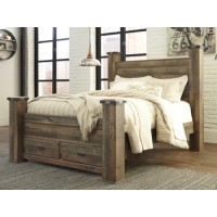 Trinell - Brown - Queen Poster Storage Footboard