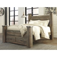 Trinell Queen Poster Storage Footboard